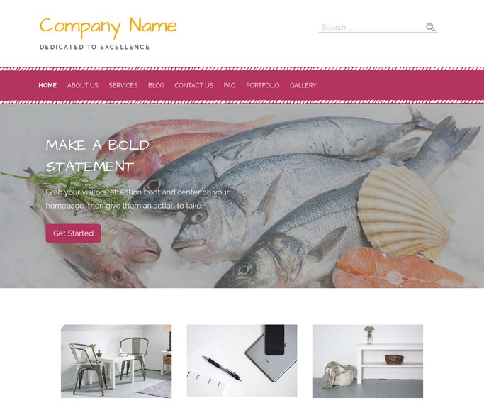 Scribbles Seafood Restaurant WordPress Theme