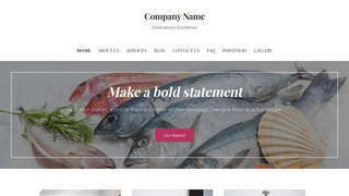 Uptown Style Seafood Restaurant WordPress Theme