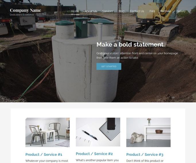 Lyrical Septic Tanks and Systems  WordPress Theme