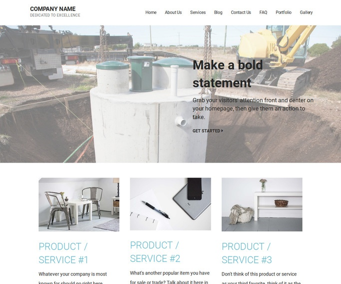 Mins Septic Tanks and Systems  WordPress Theme