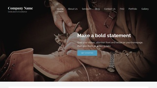 Lyrical Shoe Repair WordPress Theme