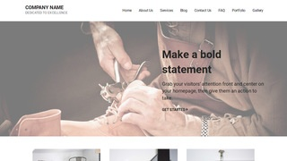 Mins Shoe Repair WordPress Theme