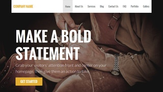 Stout Shoe Repair WordPress Theme
