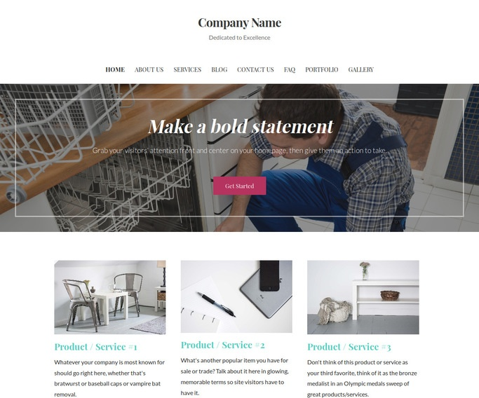 Uptown Style Small Appliance Repair WordPress Theme