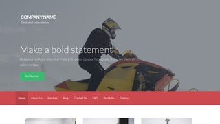 Activation Snowmobiles WordPress Theme
