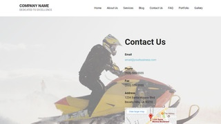 Mins Snowmobiles WordPress Theme