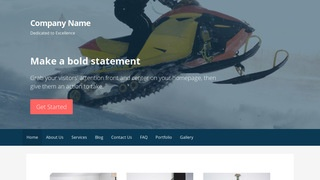 Primer Snowmobiles WordPress Theme