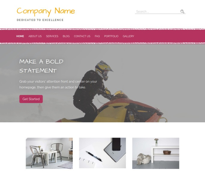 Scribbles Snowmobiles WordPress Theme