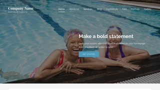 Lyrical Swimming Pool WordPress Theme