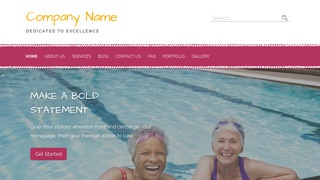 Scribbles Swimming Pool WordPress Theme