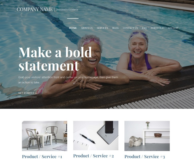 Velux Swimming Pool WordPress Theme