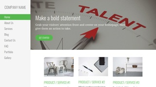 Escapade Talent Agency WordPress Theme