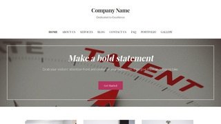 Uptown Style Talent Agency WordPress Theme