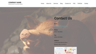 Mins Taxidermist WordPress Theme