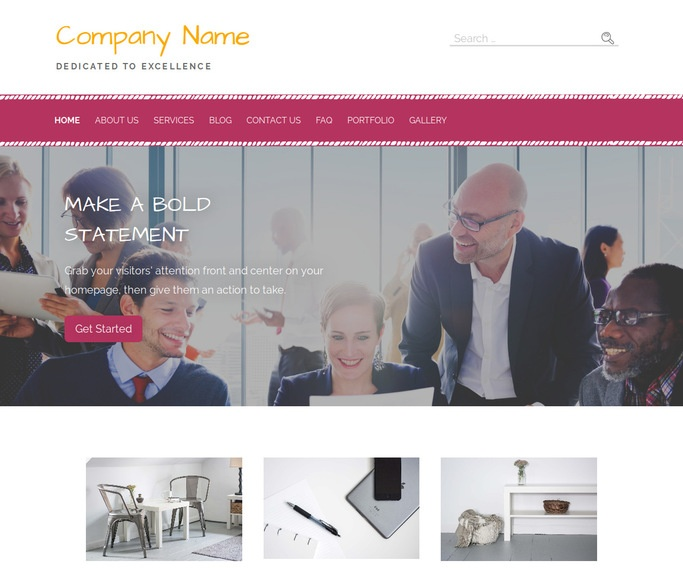 Scribbles Temp Agency WordPress Theme
