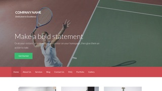 Activation Tennis Court WordPress Theme