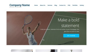 Ascension Tennis Court WordPress Theme