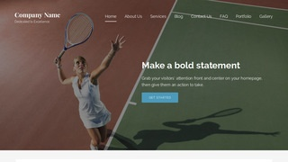 Lyrical Tennis Court WordPress Theme
