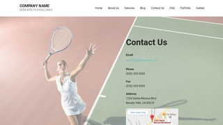 Mins Tennis Court WordPress Theme