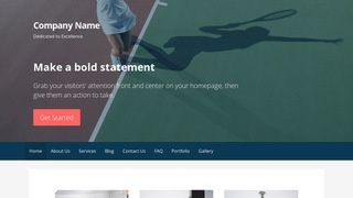 Primer Tennis Court WordPress Theme
