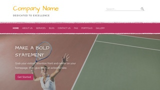 Scribbles Tennis Court WordPress Theme