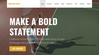 Stout Tennis Court WordPress Theme