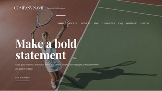 Velux Tennis Court WordPress Theme