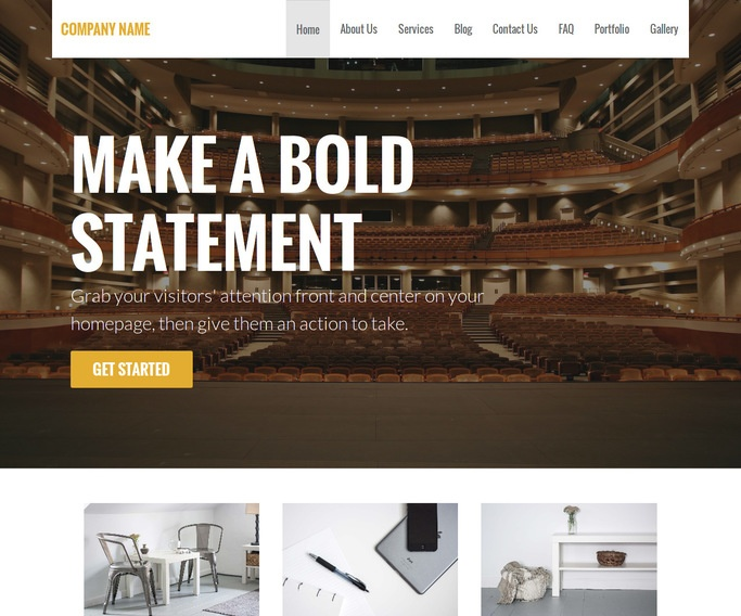 Stout Theater and Performance Venue WordPress Theme