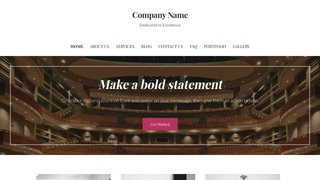 Uptown Style Theater and Performance Venue WordPress Theme