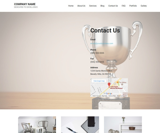Mins Trophies and Awards Shop WordPress Theme