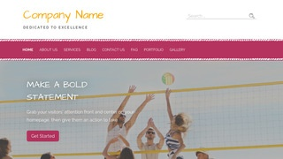 Scribbles Volleyball WordPress Theme