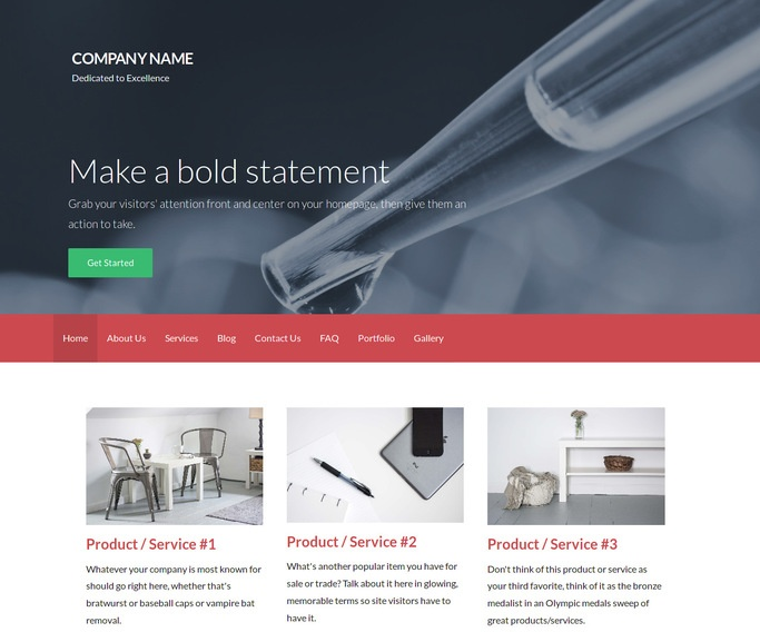 Activation Water Testing Service WordPress Theme
