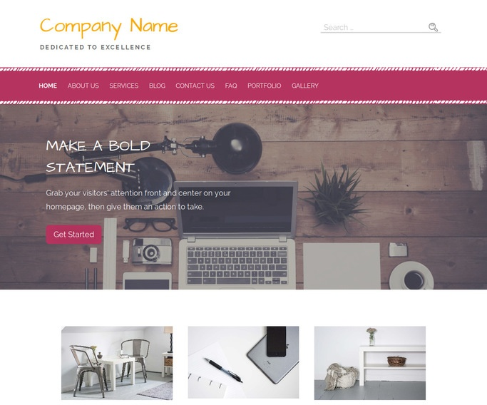 Scribbles Web Design WordPress Theme