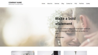 Mins Wedding and Event Photography WordPress Theme