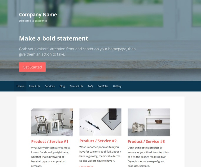 Primer Window Supplier WordPress Theme