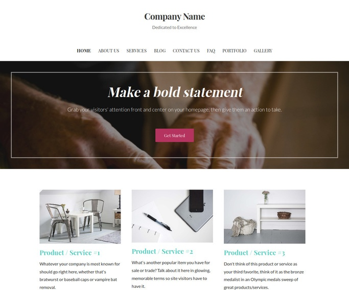Uptown Style Woodworker WordPress Theme