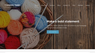 Lyrical Yarn and Knitting WordPress Theme