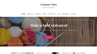 Uptown Style Yarn and Knitting WordPress Theme